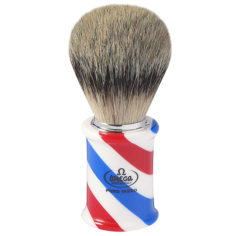 Pennello Da Barba Omega 6735 In Tasso Super Barber Pole