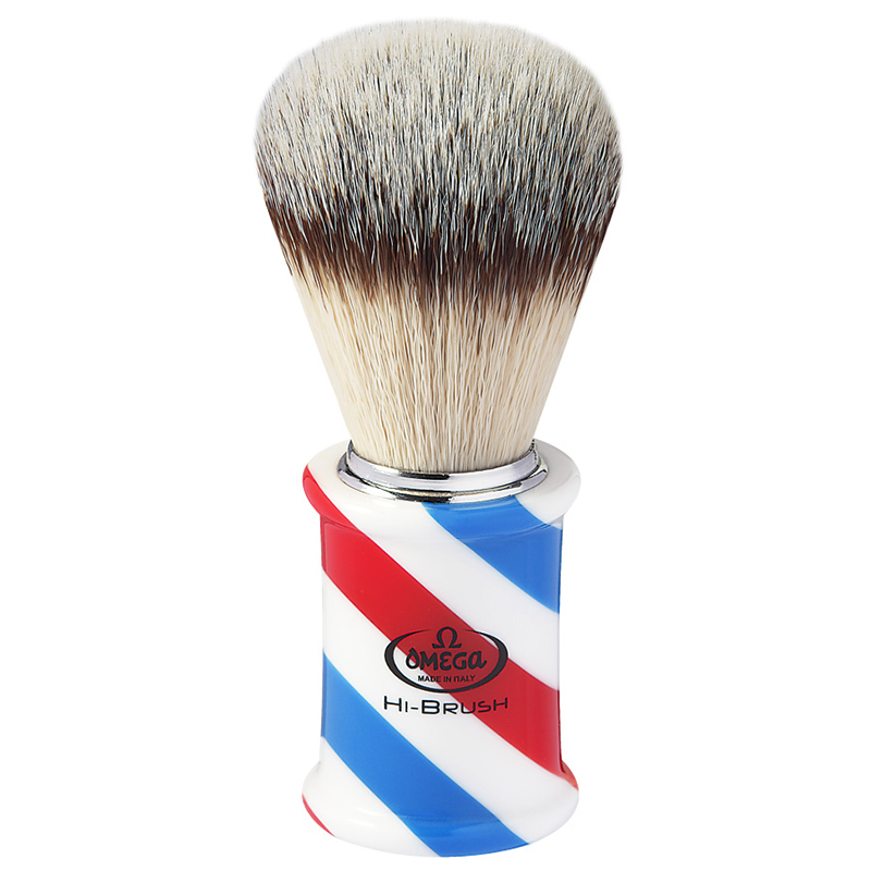 Pennello Da Barba Omega In Fibra Sintetica Hi-BRUSH