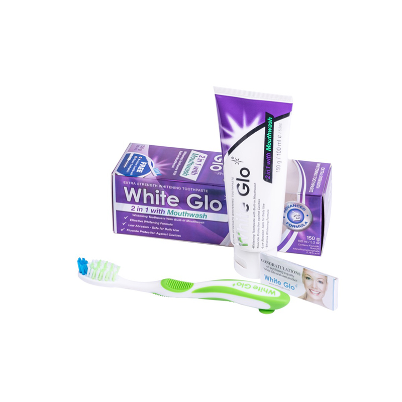 White Glo 2 in 1 Mouthwash