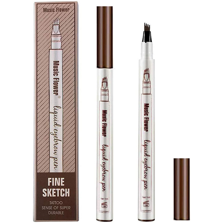 Music Flower Liquid Eyebrow Pencil #1 Castano