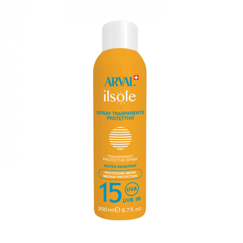 Arval Spray Trasparente Protettivo SPF 15 Bombola 200 Ml